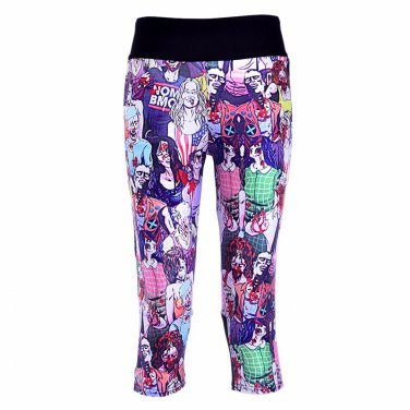 Ladies zombie capri leggings