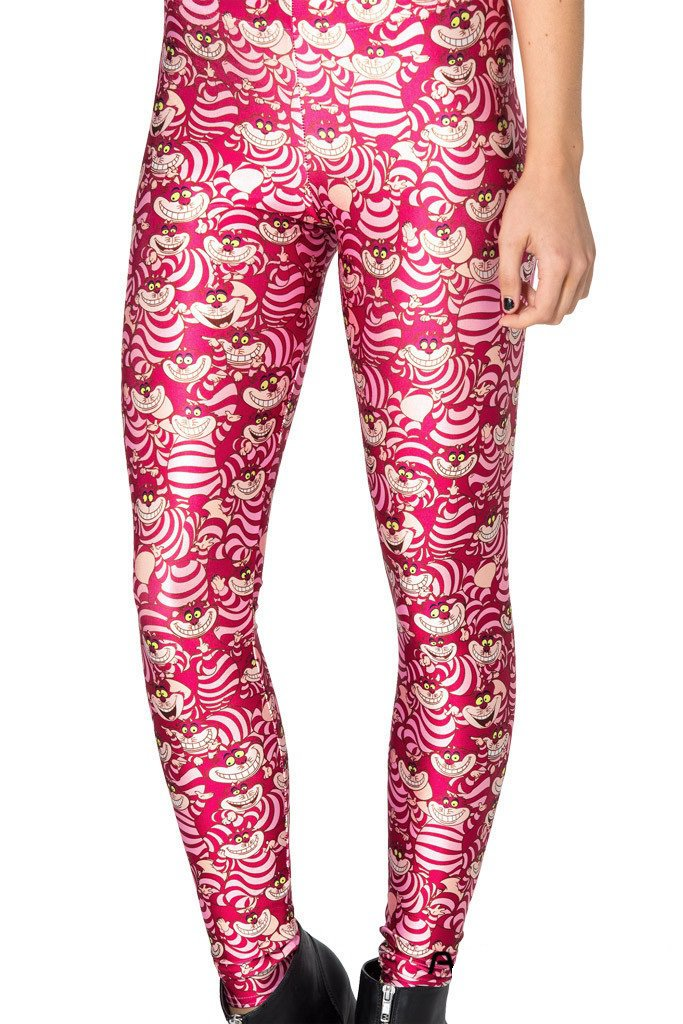 Ladies pink Cheshire cat leggings