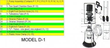 VORTEX DIATOM FILTER MODEL D-1, XL REPLACEMENT PARTS + ACESSORIES NEW
