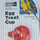 PENN PLAX BA-435 EGG TREAT CUP + UNIPET 2oz 4oz SEED WATER CUP W/PERCH HOOK NEW