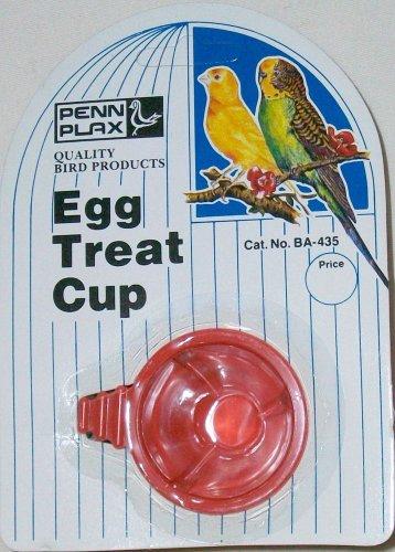 PENN PLAX BA-435 EGG TREAT CUP + UNIPET 2oz 4oz SEED WATER CUP W/PERCH HOOK NEW