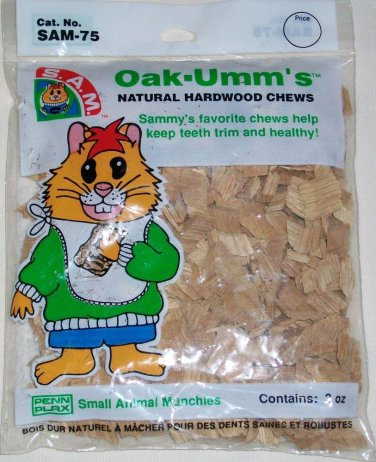 PENN PLAX S.A.M. SMALL ANIMAL MUNCHIES SHAPES & OAK-UMM'S HARDWOOD CHEWS NEW