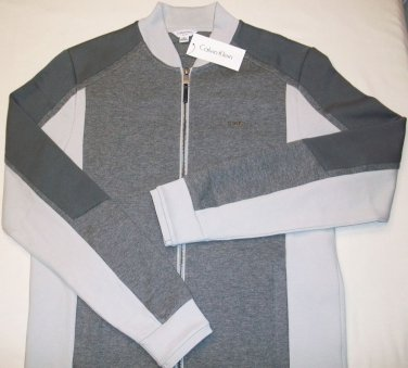 CALVIN KLEIN SLIM FIT GRAY FULL ZIP LIGHT WEIGHT TRACK JACKET SMALL NEW 40X2808