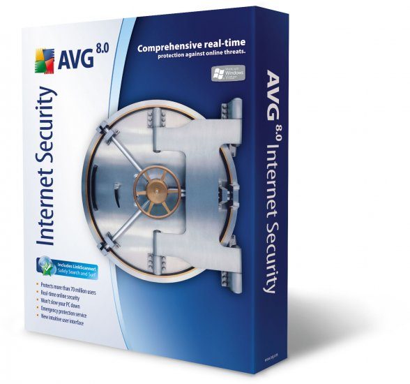 AVG Internet Security 3-Pack Edition 2 Year License