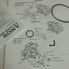 Denon DN-790R Cassette Deck Transport Repair Belt Kit