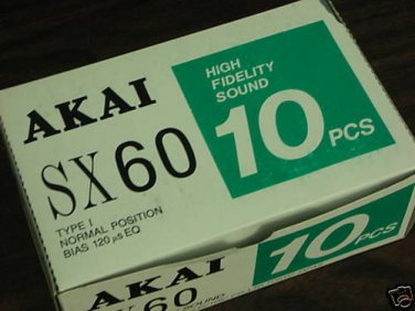 10 Akai SX-60 Cassette Tapes Made in Japan