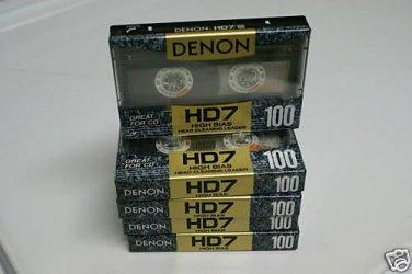 Denon HD7-100 Hi Bias Audio Cassette Tapes Made in Japan