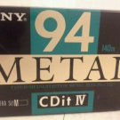Sony CDit  Metal Type IV Audio Cassette   Made in Japan New