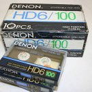 10 Denon HD6-100 Audio Cassette Tape Lot Made in Japan