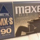 Maxell MX-S90 Metal Type IV Audio Cassette   Made in Japan New