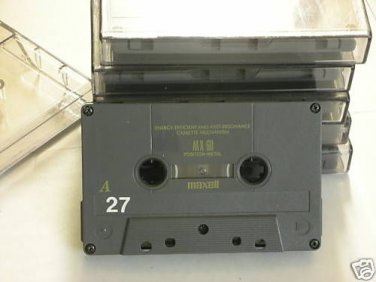 Maxell MXS-60 Metal Bias Audio Cassette Tapes