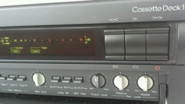 Nakamichi Deck 1 Top  3 Head Cassette Deck Recorder with Azimuth Adjust