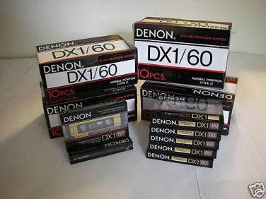 50 Denon Audio Cassette Tapes Lot  New Made in Japan