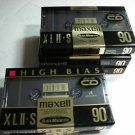 Maxell XLII-S 90 Cassette Tapes Manufactured in Japan
