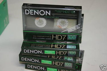 Denon HD7-100 Cassette Tape lot  Made in Japan