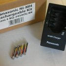 Panasonic NiMh AAA Batteries and Charger Kit New