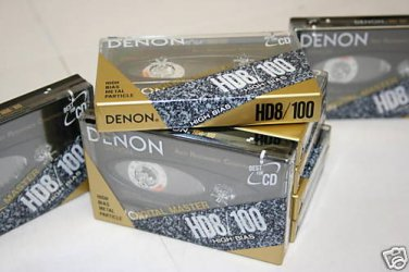 10 Denon HD8-100 Metal Cassette Tapes