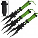 Zombie Dark Nexus 3 Piece Stainless Steel Throwing Knife Set