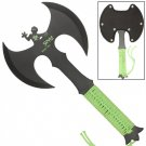Zed Full Tang Double Headed Axe Green