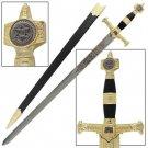 King Solomon Medieval Crusader Replica Longsword - Black