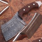 1095 Damascus Steel Butchers Knife High Carbon Cutlery