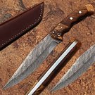 Exclusive Damascus Bowie knife Limited Edition