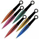 6 Pc 6 Color Throwing Knife set