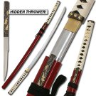 Bushido Musashi - Zetsurin Sword w/ Knife Full Tang - Red Saya
