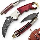 Damascus Karambit High Plains Drifter Pocket Knife