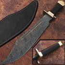 Custom Made True Damascus Bowie Knife