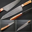 Gyuto Forged Chef Knife Olivewood Handle Damascus 1095 HC Steel