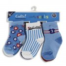 6 pair of baby boy socks in assorted blue colors infant size 0-9 months K350