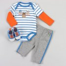 Baby boys 6-9 months pants, bodysuit and shoes by Buster Brown 479