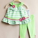 Baby girls size 12 months Rare Editions 2 piece capri set infant sale C1007