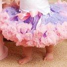 Baby girls layered leopard chiffon dress