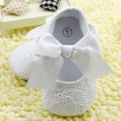 New baby girl's size 6-12 months white dress shoes for baptism or Sunday