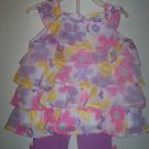 Baby girls size 3-6 months 2 piece capri set infant clothing