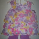 Baby girls size 6-9 months 2 piece capri set infant clothing