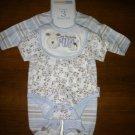 Baby boy preemie 3 piece layette