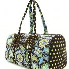 Belvah quilted monogrammable floral pattern duffle bag QF2701(BRLM) BS765