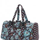 Belvah quilted monogrammable floral pattern duffle bag QF2701(BRTQ) BS765