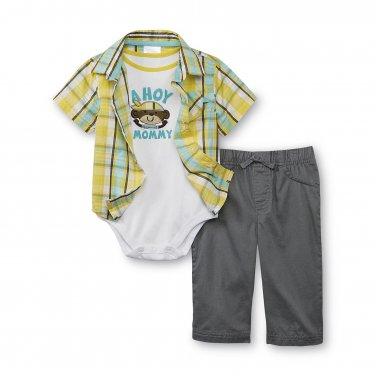 Baby boys newborn size 3 piece pants set