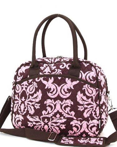 Belvah quilted floral pattern laptop case notebook bag DAQ11RL46BRPK BS500