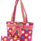 Quilted monogrammable polka dots insulated lunch bag LPDQ11LT19 FSMT BS500