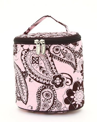 Belvah quilted paisley brown & pink lunch bag box QPF27LT13(PKBR) BS399