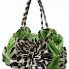 Floral Zebra Print Handbag Tote QZ887-Lim