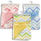 Baby boy blue chevron print blanket K650 Item 54877