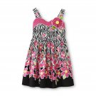 Size 3T toddler girl's zebra & floral sundress by YOUNGLAND - Floral