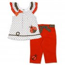 Young Hearts Infant & Toddler Girl's Ruffled Top & Pants Set - Dots & Ladybugs
