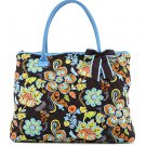 Quilted floral large tote bag handbag purse QFJ2705(BRTQ) BJ900